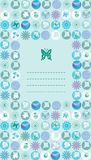 Peppermint eco cotton motif card Royalty Free Stock Photography