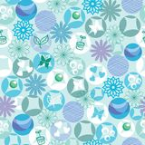 Peppermint eco cotton motif pattern Stock Photography