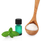 Peppermint Essence and Sea Salt Royalty Free Stock Image