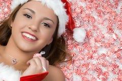 Peppermint Girl Stock Photo