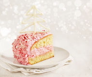 Peppermint ice-cream cake Royalty Free Stock Photography