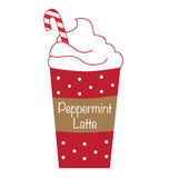 Peppermint Latte Coffee Stock Image