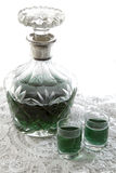 Peppermint liqueur Stock Image