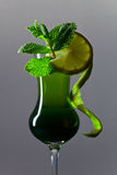 Peppermint liquor Royalty Free Stock Image
