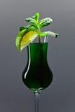 Peppermint liquor Stock Photos