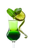 Peppermint liquor Royalty Free Stock Photo