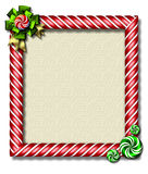 Peppermint x-mas frame. Beautiful holiday candy cane frame festooned with a big bow & peppermints Stock Images