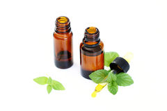 Peppermint oil Royalty Free Stock Image
