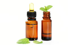 Peppermint oil Stock Photography