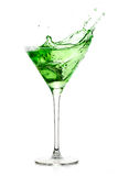 Peppermint Schnapps with big Splash. Cocktails Stock Photography