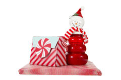 Peppermint Snowman Royalty Free Stock Images