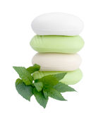 Peppermint soap royalty free stock photography