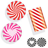 Peppermint swirl candies Stock Photo
