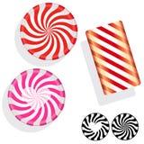 Peppermint swirl candies Stock Photo