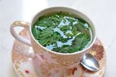 Peppermint tea. In a beautiful cup Stock Images