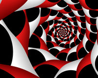 Peppermint twit. Abstract fractal spiral image resembling a twisted peppermint stick Royalty Free Stock Photos