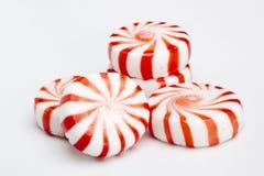 peppermints κόκκινο ριγωτό Στοκ Φωτογραφίες