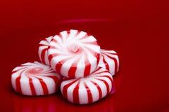 peppermints κόκκινο ριγωτό Στοκ Φωτογραφία