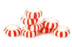 peppermints κόκκινο ριγωτό Στοκ εικόνα με δικαίωμα ελεύθερης χρήσης