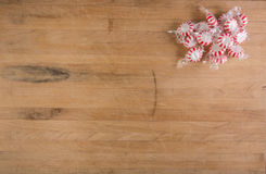 Peppermints on Cutting Board Stock Photography