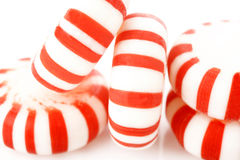 Peppermints on a white background Stock Photos