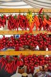 Pepperoncini和pomodorini 免版税库存图片