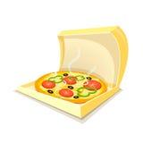 pepperoni μανιταριών πίτσα ελεύθερη απεικόνιση δικαιώματος