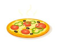 pepperoni μανιταριών πίτσα διανυσματική απεικόνιση