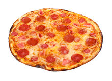 Pepperoni πίτσα Στοκ φωτογραφίες με δικαίωμα ελεύθερης χρήσης