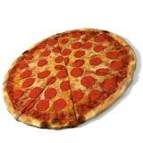 Pepperoni πίτσα. Στοκ Φωτογραφία