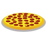 Pepperoni πίτσα στοκ φωτογραφία με δικαίωμα ελεύθερης χρήσης