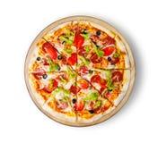 Pepperoni пиццы делюкс Стоковые Изображения