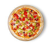 Pepperoni пиццы делюкс Стоковое Фото