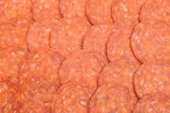 Pepperoni background Royalty Free Stock Image