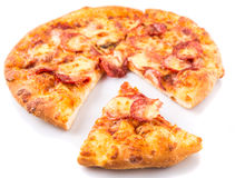 Pepperoni And Cheese Pizza VI Royalty Free Stock Image