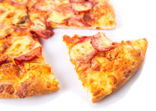 Pepperoni And Cheese Pizza VII Royalty Free Stock Photos