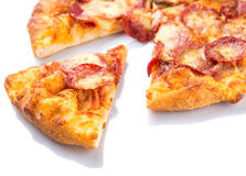 Pepperoni And Cheese Pizza VIII Royalty Free Stock Photos