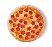 Pepperoni da pizza Fotografia de Stock Royalty Free