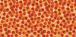 Pepperoni da pizza do fundo Tamanho grande Fotografia de Stock