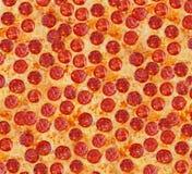 Pepperoni de pizza de fond Grande taille Photos libres de droits