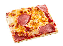 Pepperoni Italian pizza on a thin pie crust Stock Photography
