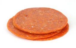 pepperoni mała sterta Zdjęcia Stock