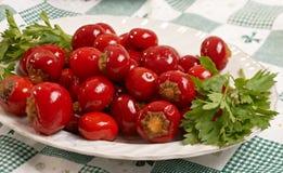 Pepperoni marinées de cerise Image stock