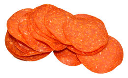 Pepperoni Meat Slices Stock Photography