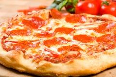 pepperoni pieprzowa pizza Obrazy Royalty Free