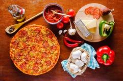 Pepperoni pizza Fotografia Royalty Free