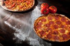 A pepperoni pizza Stock Photos
