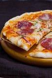 Pepperoni pizza. Freshly baked delicious pepperoni pizza Stock Photo