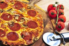 pepperoni pizza fotografia royalty free
