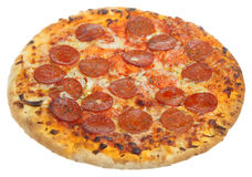 Pepperoni Pizza. Isolated on white Royalty Free Stock Photos